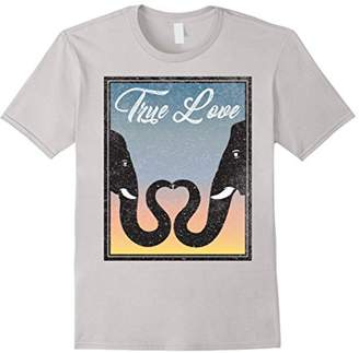 story. True Love Elephant Trunk Heart T-Shirt