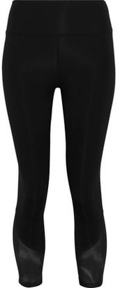 Iris & Ink Allyson Cropped Mesh-paneled Stretch Leggings