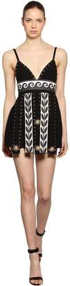 Fausto Puglisi Wool & Linen Crepe Mini Dress