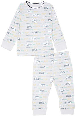 Lisa Perry Infants' Cotton Top & Pants Pajama Set - Blue