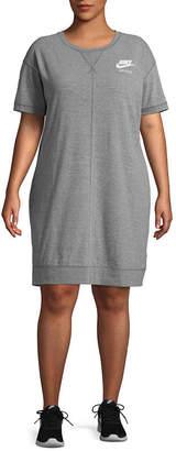 Nike Gym Vintage Short Sleeve Dress - Plus