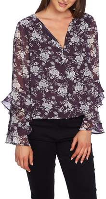 1 STATE 1.STATE Forest Delicate Ruffle Sleeve Blouse