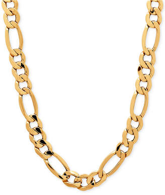 Italian Gold Men's Figaro Chain Necklace (8-1/2mm) in 10k Gold