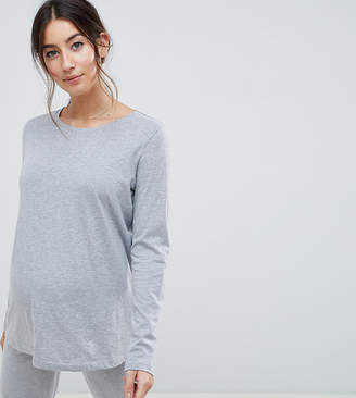 Asos DESIGN Maternity Mix & Match Long Sleeve Pyjama Tee