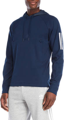 adidas Navy Stripe Hooded Pullover