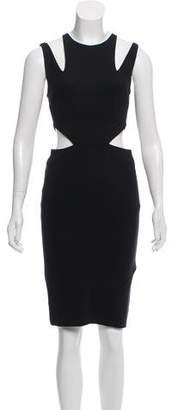 Cushnie et Ochs Cutout-Accented Knee-Length Dress
