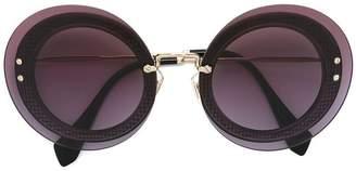 Miu Miu oversize round pattern sunglasses