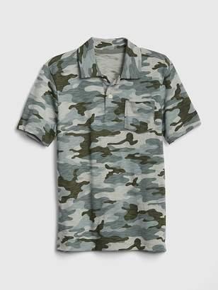 Gap Camo Short Sleeve Polo Shirt