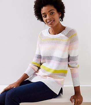 LOFT Mixed Stripe Sweater