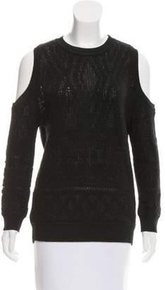 Rebecca Minkoff Cold-Shoulder Metallic Sweater