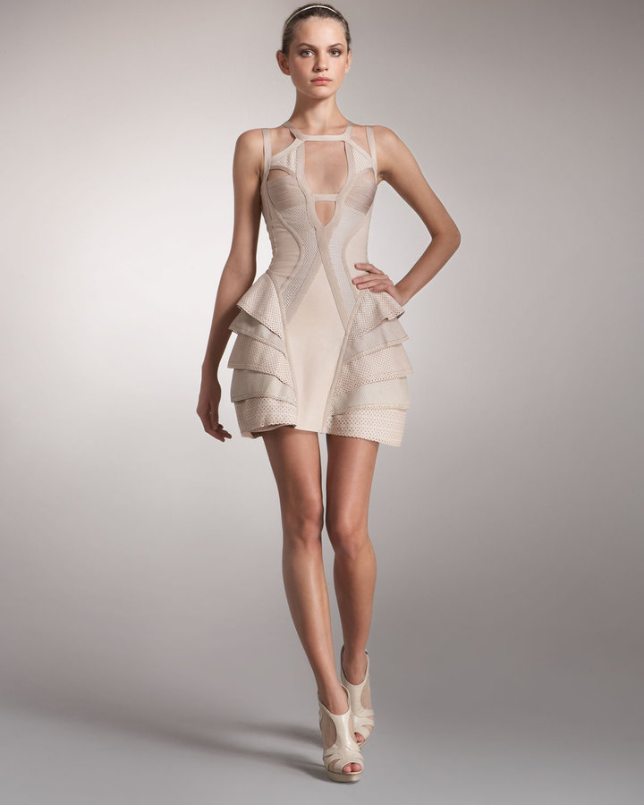 Herve Leger Multi-Strap Runway Dress