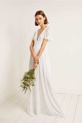 French Connection Emelina Embellished V Neck Dress