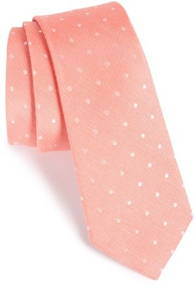 Men's The Tie Bar Dot Silk & Linen Tie $19 thestylecure.com
