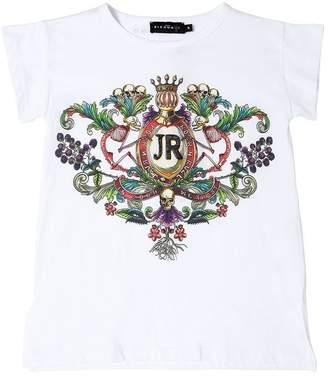 John Richmond Logo Embroidered Jersey T-Shirt