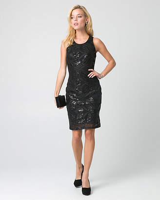 Le Château Sequin Crew Neck Cocktail Dress