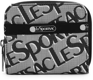 Le Sport Sac Taylor Plaid Logo Zip-Around Wallet