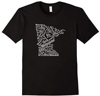 Love Minnesota Shirt T-Shirt Graphic Word Art Tee Shirts
