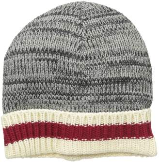 Muk Luks Men's Marl Sock Stripe Cuff Cap