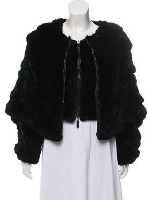 Giorgio Armani Rex Rabbit Fur Jacket Black Rex Rabbit Fur Jacket
