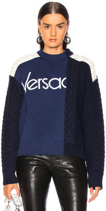 Versace Logo Colorblock Sweater