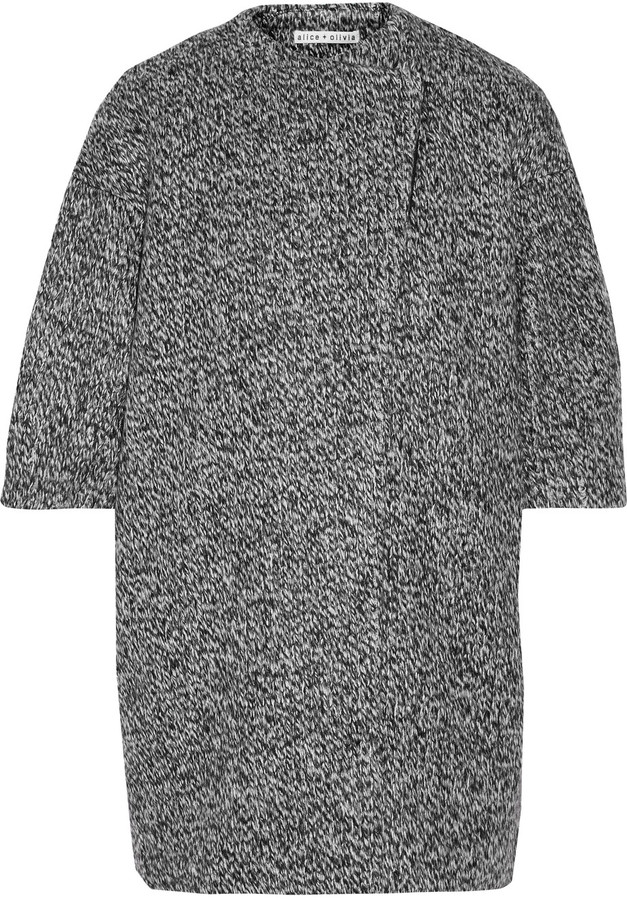 Alice + OliviaAlice + Olivia Alice + Olivia Roy marled knitted coat