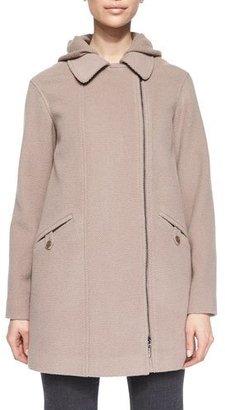 Armani Collezioni Zip-Front Removable Vest Coat, Dusty Rose $1,595 thestylecure.com