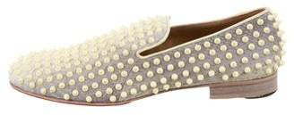 Christian Louboutin Python Rollerboy Spikes Loafers
