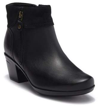Clarks Emslie Twist Leather Ankle Boot - Wide Width Available