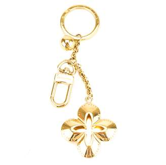 Louis Vuitton Gold Metal Clover Key Holder Charm (Pre Owned)