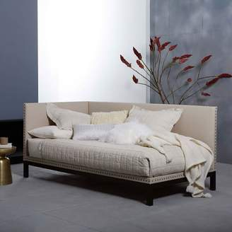 west elm Nailhead Trim Daybed - Natural (Linen Weave)