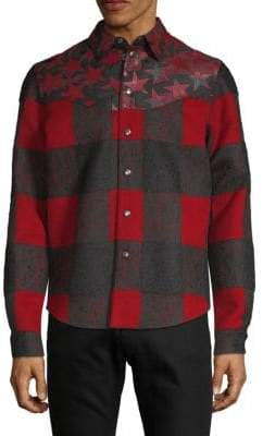 Valentino Star & Check Shirt Jacket