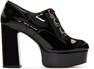Marc Jacobs Black Patent Leather Beth Heels $450 thestylecure.com