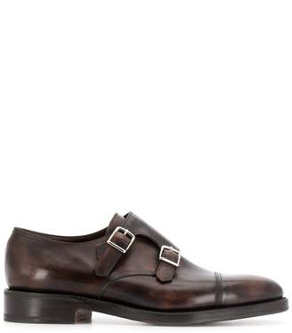John Lobb buckle monk shoes
