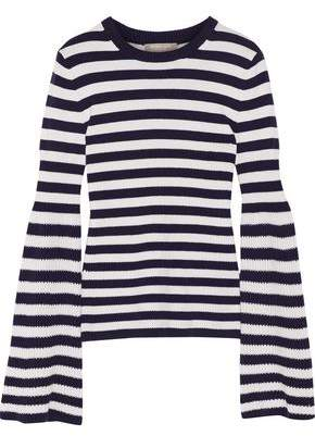 Michael Kors Striped Cashmere Sweater
