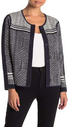 Nic+Zoe Forefront Patterned Knit Jacket (Petite)