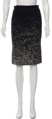 Giambattista Valli Jacquard Pencil Skirt
