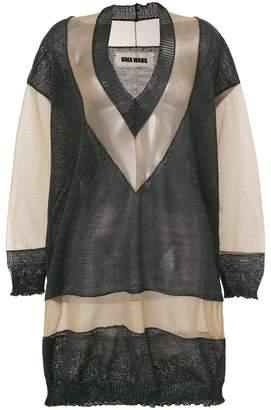 Uma Wang sheer paneled knitted jumper