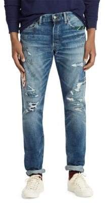 Polo Ralph Lauren Repaired Slim-Fit Jeans