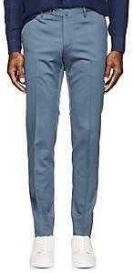 Pt01 Men's Virgin Wool-Cotton Super-Slim Trousers-Blue Size 40