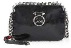 Christian Louboutin Rubylou Vintage Trashmix Patent Leather Mini Crossbody Bag