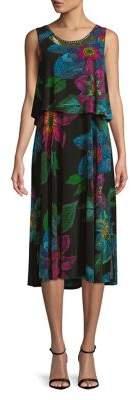 Rafaella Floral-Print Tiered Dress
