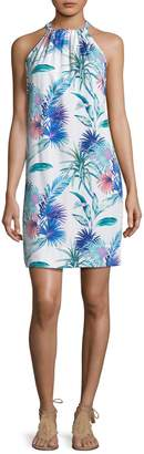 Tommy Bahama Fronds Ferdinan Floral Halter Dress