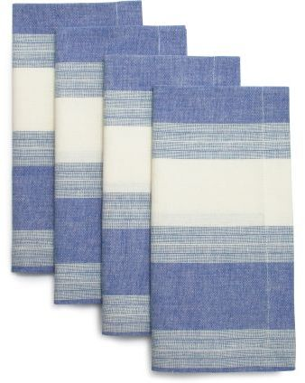 Sur La Table Stripe Chambray Napkins, Set of 4