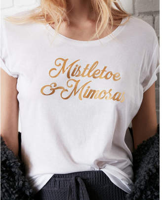 Express one eleven mistletoe and mimosas graphic tee