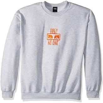Obey Men's No One Crew Neck Fleece Sweatshirt