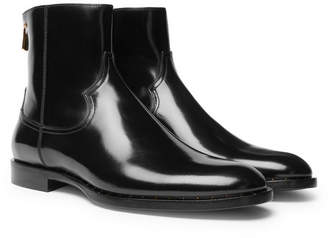 Dolce & Gabbana Polished-Leather Chelsea Boots