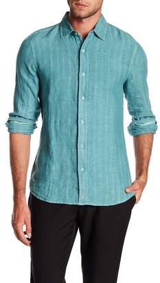 Raffi Striped Long Sleeve Linen Shirt