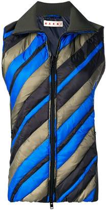 Marni diagonally striped gilet