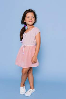 Floatimini Raglan Sleeve Slit Neckline Cover-Up Dress (Toddler, Little Girls, & Big Girls)