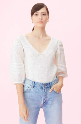 Rebecca Taylor La Vie Poplin Sleeve Pullover